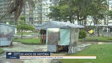 Feirarte completa 50 anos em Santos - Movimento é tradição no cenário turístico da cidade.