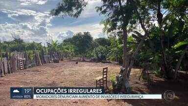 Aumentam as invasões no DF - Moradores de Sobradinho e Planaltina dizem que áreas foram ocupadas irregularmente na região nos últimos meses.
