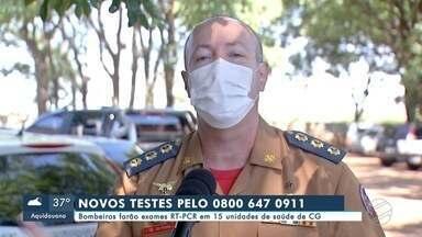 Bombeiros farão exames RT-PCR em 15 unidades de saúde de Campo Grande - Bombeiros farão exames RT-PCR em 15 unidades de saúde de Campo Grande