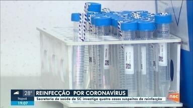 SC tem quatro casos suspeitos de reinfecção por coronavírus - SC tem quatro casos suspeitos de reinfecção por coronavírus
