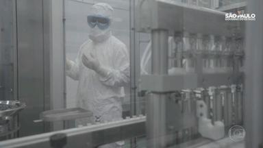 Instituto Butantan já começou a produzir a vacina CoronaVac em São Paulo - Cronograma da vacina tem um caráter de urgência: próximo passo é aguardar o fim da terceira fase dos estudos clínicos, que comprova a eficácia contra o vírus. O resultado deve ser divulgado na semana que vem. E só então começa o processo de aprovação da Anvisa.