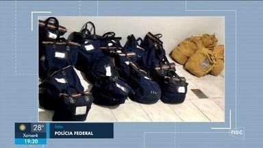 Polícia Federal encontrou malote com pedras e analisa material - Polícia Federal encontrou malote com pedras e analisa material