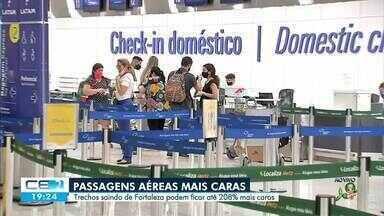 Passagens aéreas saindo de Fortaleza podem ficar até 280% mais caras - Saiba mais no g1.com.br/ce