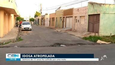 Idosa é atropelada em Juazeiro do Norte - Saiba mais no g1.com.br/ce