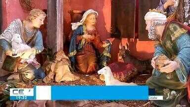 Igrejas católicas montam presépios natalinos - Saiba mais no g1.com.br/ce