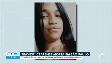 Sepultado corpo da travesti cearense morta em São Paulo - Saiba mais no g1.com.br/ce