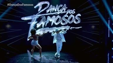"""André Gonçalves e Paula Santos dançam """"Malandro é Malandro"""" - Samba é o ritmo desde domingo no Dança dos Famosos"""