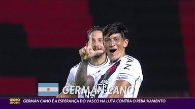 Máquina?! Germán Cano é a esperança do Vasco na luta contra o rebaixamento - Máquina?! Germán Cano é a esperança do Vasco na luta contra o rebaixamento