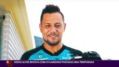 Diego Alves renova com o Flamengo por mais uma temporada - Diego Alves renova com o Flamengo por mais uma temporada