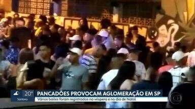 Véspera e o dia de Natal têm pancadões com aglomeração em São Paulo - Vários bailes foram registrados pela cidade na véspera e no dia de Natal.