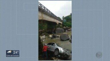 Pelo menos sete carros caem em ponte de rodovia de MG em 24 horas; jovem está desaparecido - Pelo menos sete carros caem em ponte de rodovia de MG em 24 horas; jovem está desaparecido