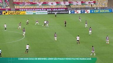 Com dois gols de Brenner, líder São Paulo vence Flu no Maracanã - Com dois gols de Brenner, líder São Paulo vence Flu no Maracanã