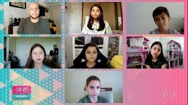 Crianças falam sobre as dificuldades da pandemia - Sem escola e sem abraço