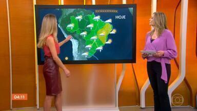 Meteorologia prevê pancadas isoladas de chuva em grande parte do país nesta quarta-feira (30) - Nesta quarta (30), pode chover forte em São Paulo, no sul de Minas, no Rio e em Mato Grosso do Sul. Confira a previsão do tempo para todo o Brasil.