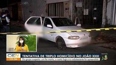 Polícia registra tentativa de triplo homicídio no João XXIII - Saiba mais em g1.com.br/ce
