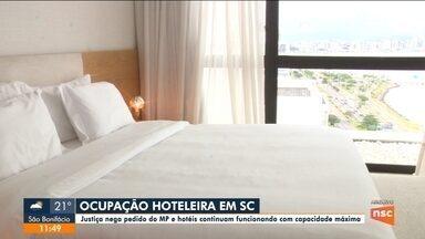 Justiça nega pedido do MP e hotéis continuam com capacidade máxima em SC - Justiça nega pedido do MP e hotéis continuam com capacidade máxima em SC