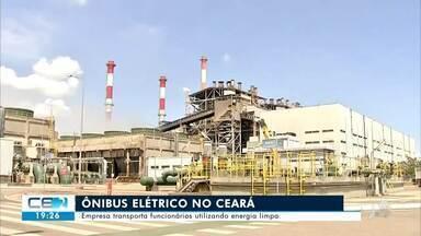 Ônibus elétrico começa a ser utilizado no Ceará - Saiba mais em g1.com.br/ce