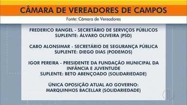 Câmara de Campos tem mudanças após vereadores serem convidados para secretarias - Três suplentes assumirão os cargos.