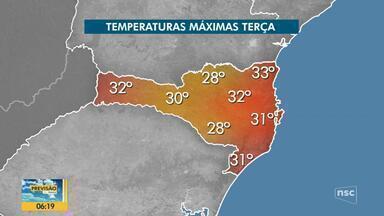 Confira a previsão do tempo em SC nesta segunda-feira (11) - Confira a previsão do tempo em SC nesta segunda-feira (11)