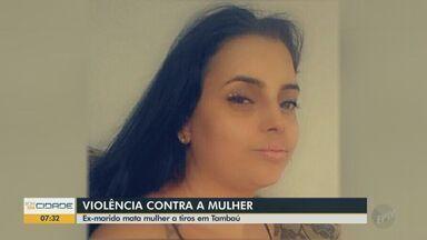 Mulher de 27 anos é assassinada a tiros em Tambaú e ex-marido é suspeito do crime - Aline Cristina Devechi foi morta na madrugada deste domingo (10) no conjunto habitacional Wanderley Assalin.