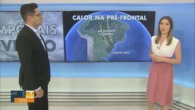 Temperaturas altas e risco de temporal marcam início da semana na região; veja a previsão - Confira a previsão do tempo completa para as cidades.