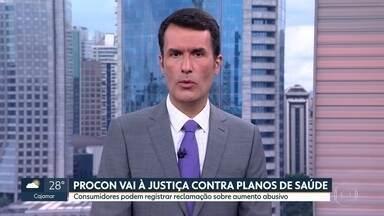 Procon de São Paulo vai entrar na justiça contra aumento dos planos de saúde - Ação vai pedir suspensão ou redução do aumento aplicado. Consumidores que se sentirem lesados, devem reclamar na página do Procon na internet.