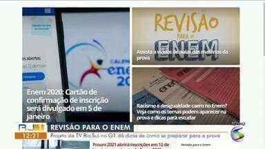 Projeto da TV Rio Sul no G1 dá dicas de como se preparar para o Enem - Estudantes podem conferir vídeos completos com aulas de professores especialistas em assuntos variados.
