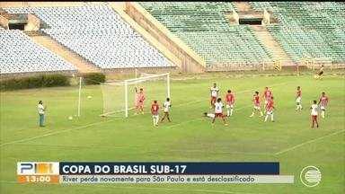 River-PI perde para o São Paulo e é desclassificado da Copa do Brasil Sub-17 - River-PI perde para o São Paulo e é desclassificado da Copa do Brasil Sub-17