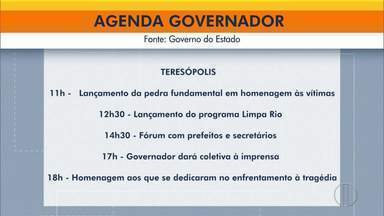 Governador do RJ visita Teresópolis e fala de investimento 10 anos após tragédia - Cláudio Castro cumpre agenda na região até esta terça-feira (10).
