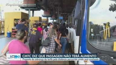 CMTC decide que não terá reajuste no preço da passagem de ônibus neste ano para a Goiânia - Decisão foi anunciada após reunião entre o órgão e secretários da prefeitura de Goiânia que avalia o plano emergencial para o transporte público.