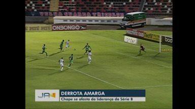 Com derrota, Chapecoense se afasta da liderança na Série B - Com derrota, Chapecoense se afasta da liderança na Série B