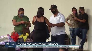 Decreto altera operação de empresas de transporte de passageiros em Minas Gerais - As novas normas devem desburocratizar fretamento de veículos.