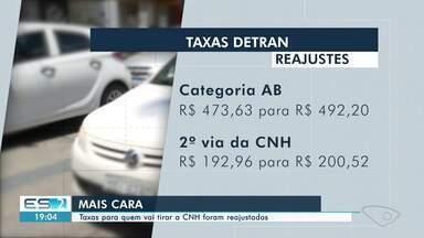 Taxas para quem vai tirar CNH são reajustadas no ES - Confira na reportagem.