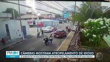 Imagens mostram atropelamento que resultou na morte de um idoso em Ponta Negra - Imagens mostram atropelamento que resultou na morte de um idoso em Ponta Negra