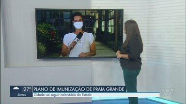 Praia Grande seguirá plano estadual na vacinação contra a Covid-19 - Cidade seguirá o plano de vacinação definido pelo Governo de São Paulo.