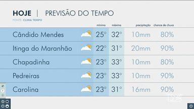 Veja as variações das temperaturas no Maranhão - Confira a previsão do tempo nesta quinta-feira (14) em São Luís e também no interior do estado.