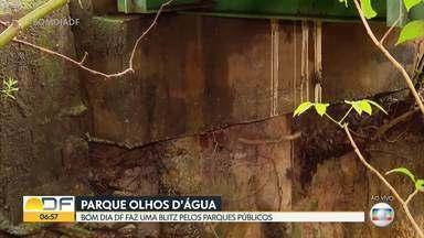 Pontes internas do Parque Olhos D'água podem desabar - Perícia feita pelo MPDFT constatou que existe um risco negligenciado desde 2019. Já o Parque Ecológico do Lago Norte, que seria 100% inclusivo a partir do segundo semestre de 2020, segundo o Ibram, até hoje segue sem as melhorias.