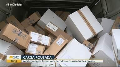 Carga de medicamentos roubada em Morrinhos é recuperada pela PRF em Minas Gerais - Motorista da carga foi levado como refém por assaltantes.
