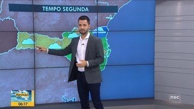 Confira a previsão do tempo nesta segunda-feira em SC - Confira a previsão do tempo nesta segunda-feira em SC