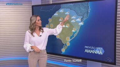 Terça (19) será marcada por grande amplitude térmica e chuva em algumas cidades do RS - Assista ao vídeo.