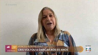 Cris voltou a dançar aos 55 anos - Preconceitos fizeram Cris adiar seu sonho de dançar. Ela contou com o incentivo do marido