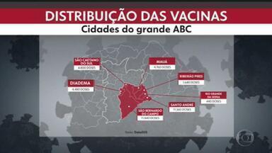 Prefeitos do ABC esperam começar vacinação simultânea às 17h desta terça (19) - Prefeitos do ABC esperam começar vacinação simultânea às 17h desta terça (19).