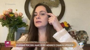 Brasileira moradora de Orlando salva criança de violência - Flaviane é gerente de um restaurante nos Estados Unidos, percebeu marcas estranhas no menino e decidiu chamar a polícia