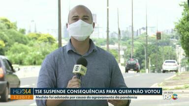TSE suspende consequências para quem não votou nas últimas eleições - Medida foi adotada por causa do agravamento da pandemia.