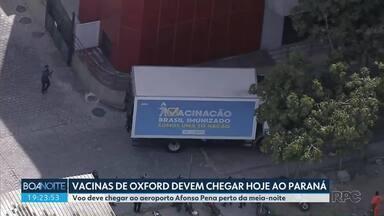 Vacina de Oxford deve chegar ainda hoje no Paraná - Depois de chegar ao Afonso Pena, a carga será levada para o Cemepar e depois entregue às regionais.