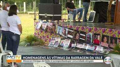 Acompanhe as homenagens às vítimas da tragédia da Vale, em Brumadinho - Cerca de 60 bombeiros trabalham nas buscas para encontrar 11 pessoas que ainda estão desaparecidas. Rompimento da barragem em Córrego do Feijão deixou 270 mortos.