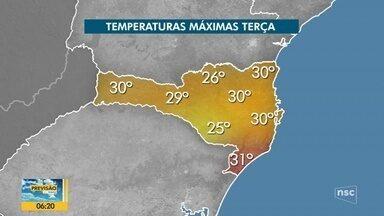 Veja a previsão do tempo para SC nesta terça-feira - Veja a previsão do tempo para SC nesta terça-feira