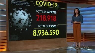 Brasil registra 218.918 mortes causadas pela Covid-19 - Veja os números atualizados da pandemia no Brasil, segundo o consórcio de veículos de imprensa.