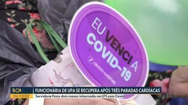 Funcionária de UPA de recupera após três paradas cardíacas - A servidora ficou dois meses internada na UTI com Covid-19, em Guarapuava.