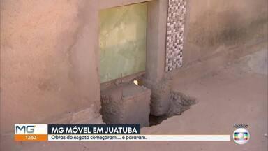 MG Móvel mostra como está serviço de esgoto em Juatuba, na Grande BH - Serviço é pedido pelos moradores que ainda precisam utilizar fossas.